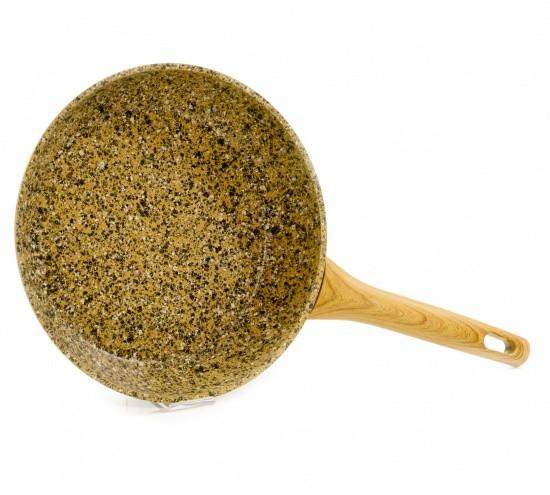 """Сковорода """"Imperial Gold"""" 20х4.5см с индукц. дном алюминиевая с каменным антипригарным покрытием Fissman"""