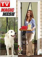 Антимоскитная шторка сетка на магнитах с кружевами Magic Mesh