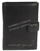 Элитный мужской вместительный бумажник из натуральной качественной кожи art. GA3903-A черный