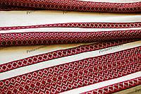Ткань для вышиванок с украинским орнаментом Рандеву ТДК-110 2/1