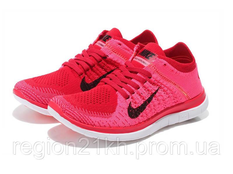 Кроссовки беговые Nike Free Flyknit 4.0 Pink Flash Fireberry