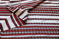 Ткань с украинской вышивкой Роксолана ТДК-108 2/1декоративка,декоративна тканина, тканини