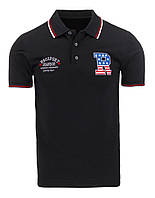 Рубашка поло мужская черный  XL px0037