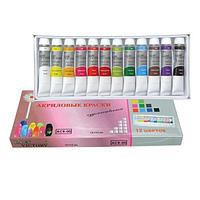 Набор акриловых красок в тубах (12 шт) ACR-00