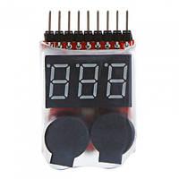 Контроллер розряда LiPo 1-8S с сигнализацией низкого заряда