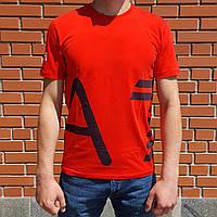 Мужская футболка Armani EA7 красная