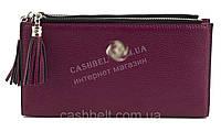 Интересный качественный удобный кошелек высокого качества FUERDANNI art. K74-239 малиновый