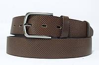 Ремень кожаный коричневый 'nova-Belt2017' с узором #0 35 мм