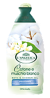 Крем-гель для душа и ванны ХЛОПОК И МУСКУС L'ANGELICA SOFT BATH & SHOWER GEL COTONE E MUSCHIO BIANCO