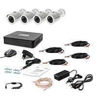 Комплект видеонаблюдения Tecsar AHD AHD 4OUT-2M-AUDIO