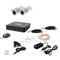 Комплект видеонаблюдения Tecsar AHD AHD 2OUT-2M-AUDIO