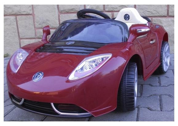 Детский электромобиль на аккумуляторе Cabrio T с пультом управления (бордовый)