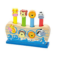 """Игрушка Viga Toys """"Веселый ковчег"""" (50041), деревянные детские игрушки"""