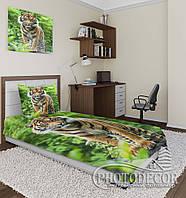 """Фотопокрывало """"Тигр в джунглях"""" (2,2м*2,0м)"""