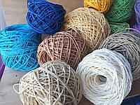 Рафия соломка для вязания шляп и сумок белая, фото 1