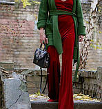 Жіноча чорна класична сумка з натуральним пітоном, фото 3
