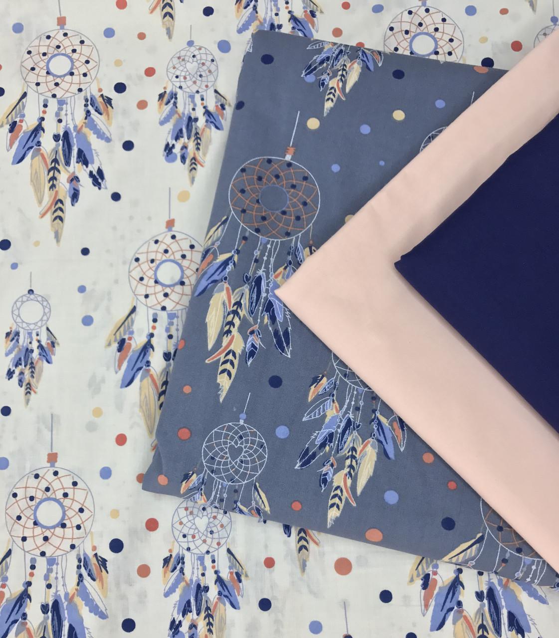 Хлопковая ткань польская (ткани компаньоны только для примера, не для заказа)