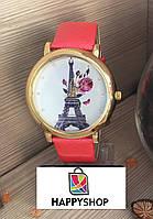 Часы женские с лакированным ремешком (Red)