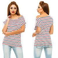 Стильная женская футболка на одно плечо