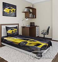 """Фотопокрывало """"Жовтий автомобіль"""" (2,2 м*2,4 м)"""
