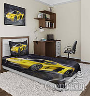 "Фотопокрывало ""Желтый автомобиль"" (2,0м*1,5м)"