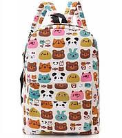Рюкзак графити зверюшки , тваринки портфель молодежный