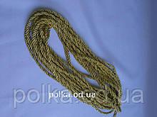Шнур кант золотой с золотом, ширина 5мм(1моток=100ярдов)