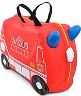Детский чемодан TRUNKI Frank the Fire Truck TRU-0254 Frank, фото 1