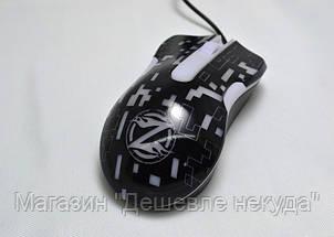 Мышь компьютерная проводная XG75 с подсветкой USB, фото 2