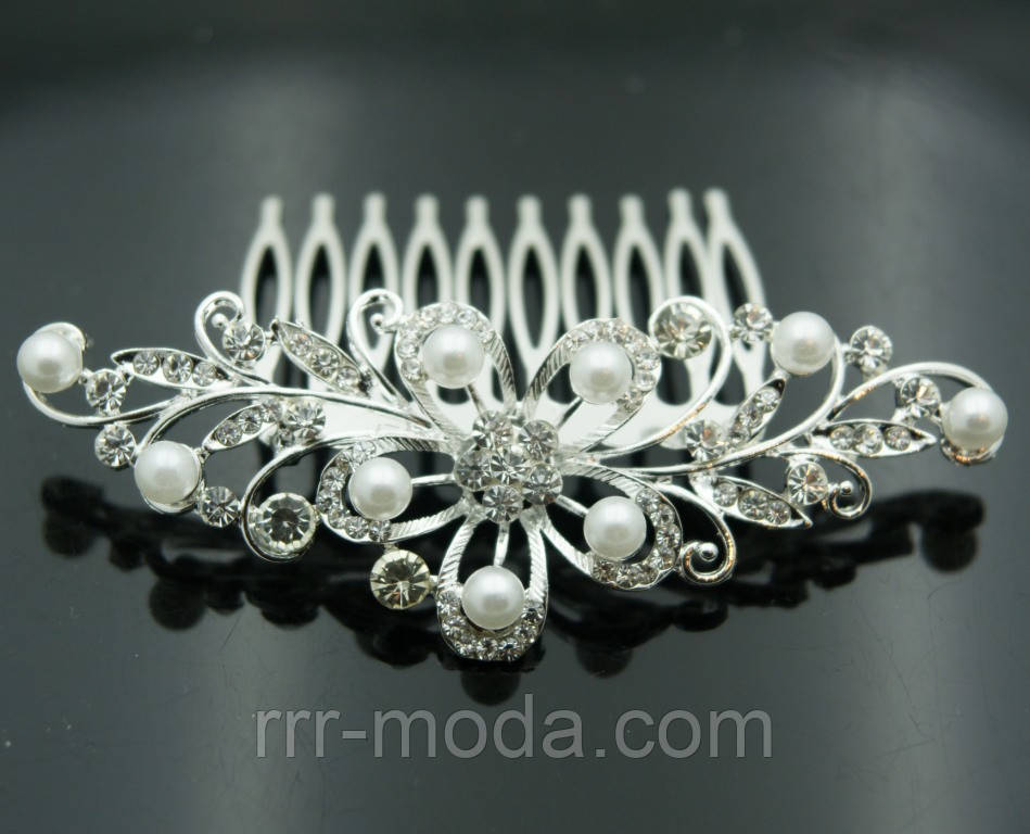 Красивые свадебные украшения для волос- свадебные гребни 423 - Бижутерия оптом «R. R. R.» в Одессе