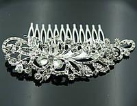 Нежные свадебные украшения для волос- свадебный гребень 424