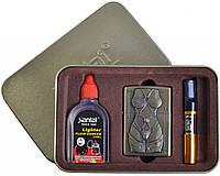 Подарочный набор SEXY 3в1 Зажигалка, бензин, мундштук №4713-5