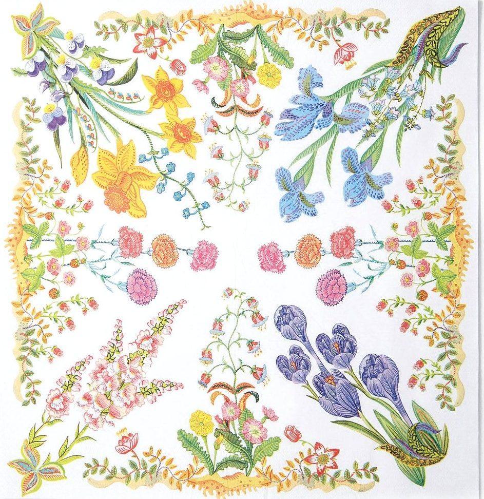 Салфетка декупажная Цветы 6937