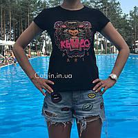 Женская футболка Kenzo черная