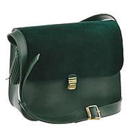 Женская сумка Blanknote Ameli BN-BAG-9-iz-velur зеленая