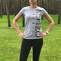 Женская футболка Kenzo серая