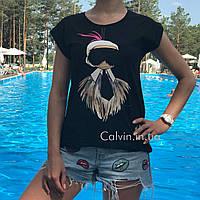 Женская футболка FENDI черная