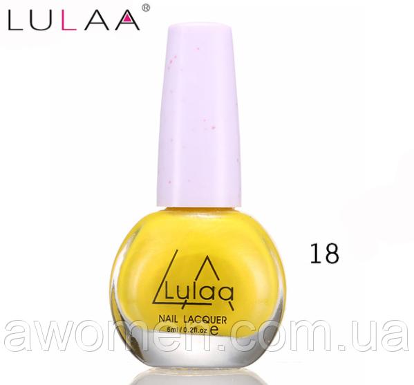 Лак для стемпинга Lulaa 6 мл (жовтий) № 18