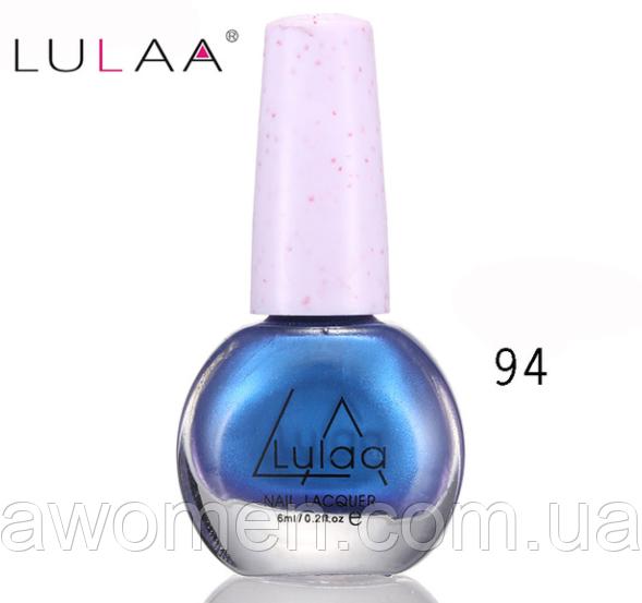 Лак для стемпинга Lulaa 6 мл (синій перламутровий) № 94