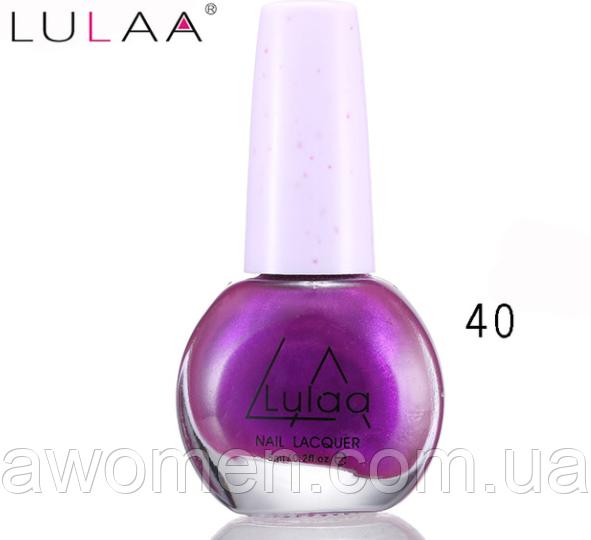 Лак для стемпинга Lulaa 6 мл (фиолетовый перламутровый) № 40