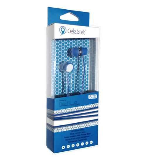 Навушники вакуумні Celebrat S-20 blue+mic (гарнитура) b449a4a838b2e