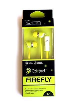 Навушники вакуумні Celebrat R20 green+mic (гарнитура)  продажа 5080177360bd2