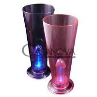 Светящийся пивной стакан Light Up Willy Surprise Beer Glass, Розовый