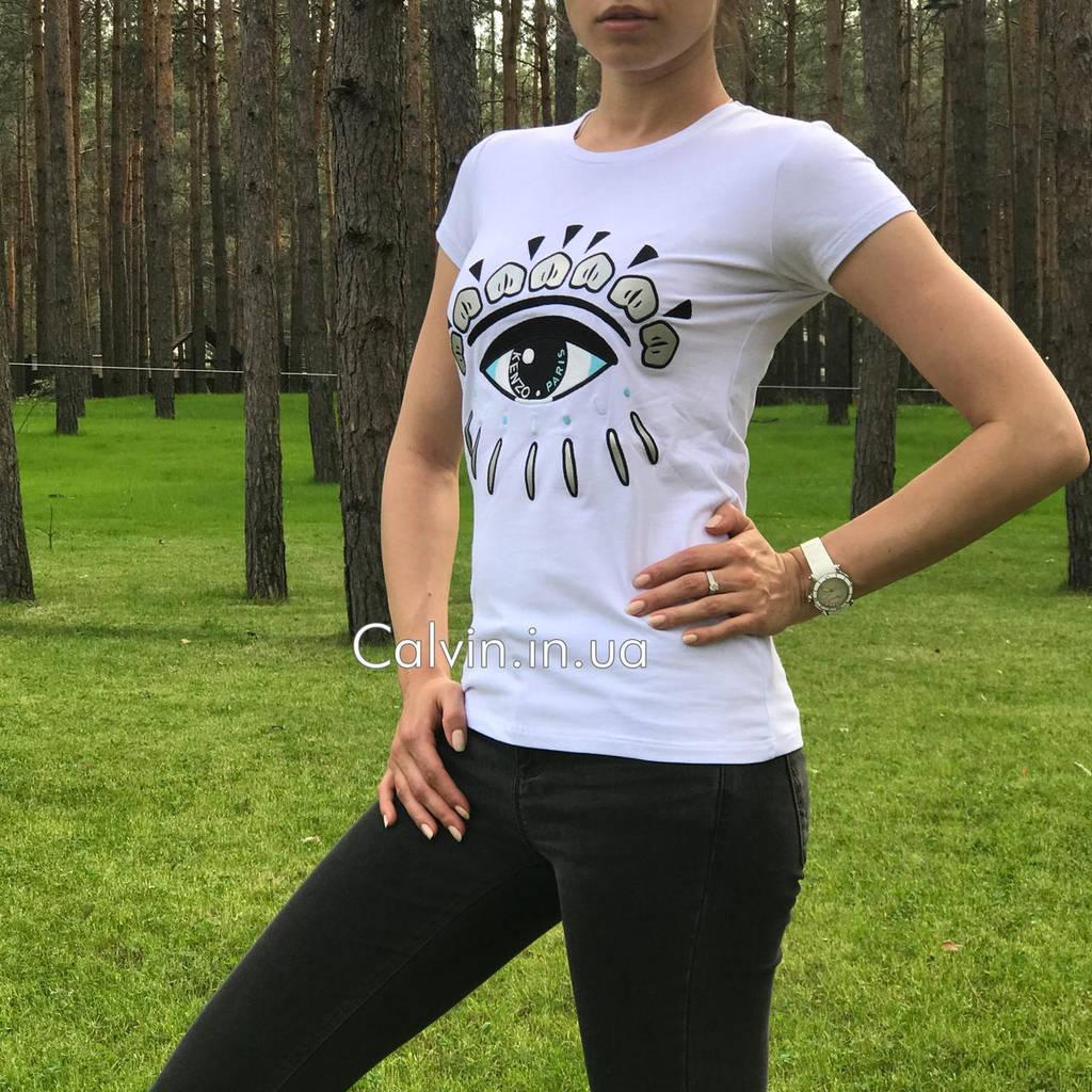 Женская футболка Kenzo глаз белая
