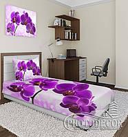 """Фотопокрывало """"Фиолетовые орхидеи"""" (2,2м*2,0м)"""
