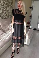 Женское черное платье с кружевом от Перис Хилтон. Самая востребованная модель по версии Cosmopolitan