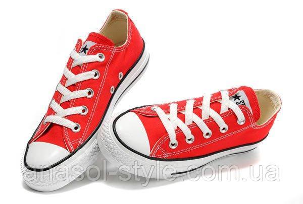 Кеды Converse красные низкие реплика