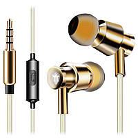 Мощная Гарнитура COSONIC W6 золото металлическая бассы частоты с микрофоном смарфона телефона android музыка