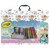 Crayola Набор для детского творчества холодное сердце 140 предметов в чемодане Frozen Inspiration Art Case Styles May Vary