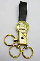 Брелок для ключей с кожаным ремешком